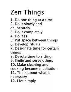 Zen rules
