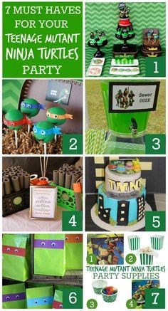 7 Must-Have Teenage Mutant Ninja Turtles Party Ideas