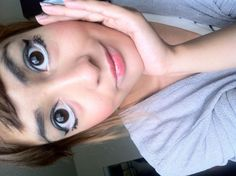 How to Do Female Anime Makeup lol sorta creepy -- for Carrie!