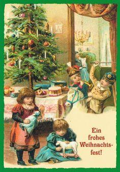 die 89 besten bilder von nostalgische weihnachtskarten. Black Bedroom Furniture Sets. Home Design Ideas