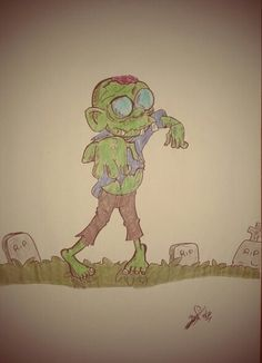 Zombie Walking by Kio