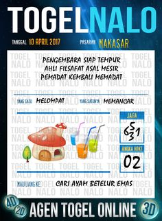 Angka Kuat 3D Togel Wap Online TogelNalo Makassar 10 April 2017