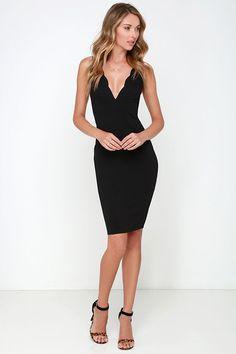 LULUS Exclusive Work of Heart Midi Black Bodycon Dress at Lulus.com!