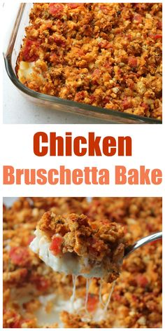 Bruschetta Bake (the BEST meal to take to someone!) Super easy and quick Chicken Bruschetta Bake! Perfect for busy nights or taking a meal to someone!Super easy and quick Chicken Bruschetta Bake! Perfect for busy nights or taking a meal to someone! Take A Meal, Catering, Food Porn, Baked Chicken, Recipe Chicken, Chicken Meals, Cubed Chicken Recipes, Freezer Chicken, Sticky Chicken
