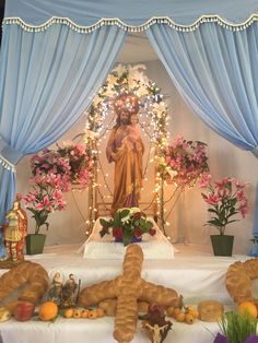 Feast Day of St. Joseph  Vivo San Giuseppe table by St. Joseph Society at Mary Star of the Sea