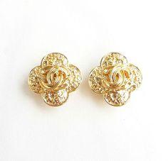 ©miri_mari - Vintage CHANEL Filigree CC Letter Cross Earrings ~ SOLD OUT