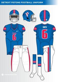 Nba Uniforms, Football Uniforms, Football Team, Football Helmets, Football Logo Design, Nba Wallpapers, Detroit Pistons, Fantasy Football, American Football