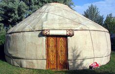traditional designs on yurt home