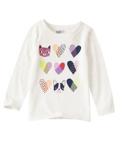 Animal Heart Tee at Crazy 8 (Crazy 8 Cute Outfits For Kids, Toddler Girl Outfits, Toddler Girls, Fashion Design For Kids, Kids Fashion, Girls Tees, Shirts For Girls, Hard Rock T Shirt, Aw18 Trends
