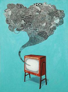 Television by Kirsten McCrea. www.hellokirsten.com