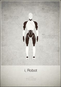 I, Robot (2004) ~ Minimal Movie Poster by Mads Svanegaard #amusementphile