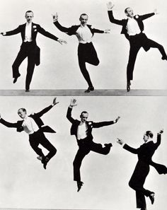peacocklane: Fred Astaire dancing, circa 1930's I have no desire to prove anything by dancing. I have never used it as an outlet or a means of expressing myself. I just dance. I just put my feet in the air and move them around. Fred Astaire