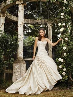 Fit N Flare Taffeta Sweetheart With Beading Floor Length Classic Bridal Gown