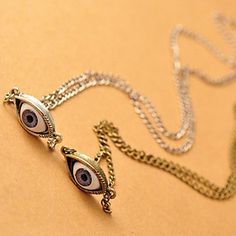 Punk+Demom+Eye+Alloy+Pendant+Necklace(Bronze)+(1+Pc)+–+USD+$+1.99