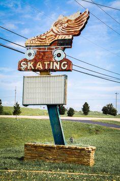 """Route 66 Roller Dome"" -- Sapulpa, Oklahoma."