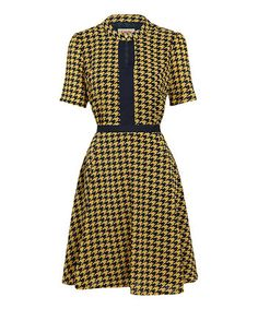 Blue Barron Dress | Daily deals for moms, babies and kids// I'm not a fan of the yellow but that is an adorable dress.