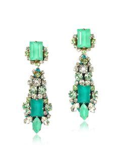 Radà Aqua Crystal Drop Earrings
