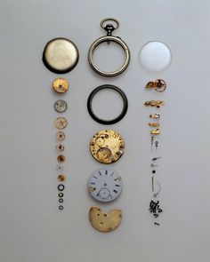 from things organized neatly, love the deconstructed pocket watch