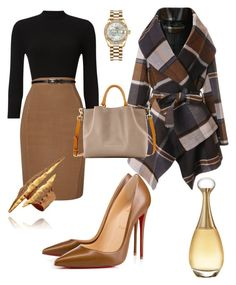 """""""Untitled #12"""" by jmwallace58 on Polyvore featuring Phase Eight, Chicwish, Christian Louboutin, Dooney & Bourke, Rolex and Christian Dior"""