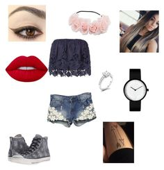 """""""summer"""" by angie-9600 on Polyvore featuring moda, Converse, Miguelina i Lime Crime"""