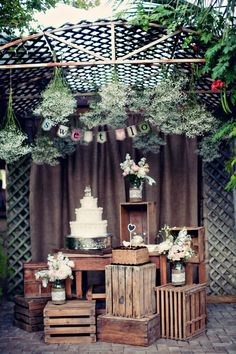 pinterest barn weddings | Vintage Cake Display Rustic Chic Wedding Venue Barn Picture