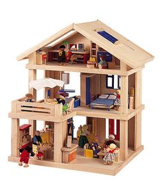Plan Toys Wood Terrace Dollhouse  $79.99,,, wonder if my sweet son in law could make this for me...