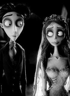 The Corpse Bride.  I wish we looked like Tim Burton characters.