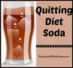 Quitting diet soda so I can #thrive in 2014! | thissweetlifeofmine.com
