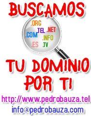WWW.PEDROBAUZA.COM Dominios, Tecnologia, Marketing, Posicionamiento, Asesoramiento, Redes Sociales, y mucho mas..... Contacto= Info@pedrobauza.com