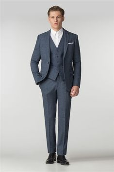 Men's suits from under and free delivery when you spend over Available in slim fit, regular or tailored to your style requirements. Air Force Blue, Donegal, Mens Suits, Your Style, Suit Jacket, Slim, Fashion Outfits, Formal, Fitness