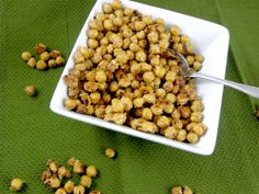 Garlic Parmesan Roasted Chickpea Snack Recipe