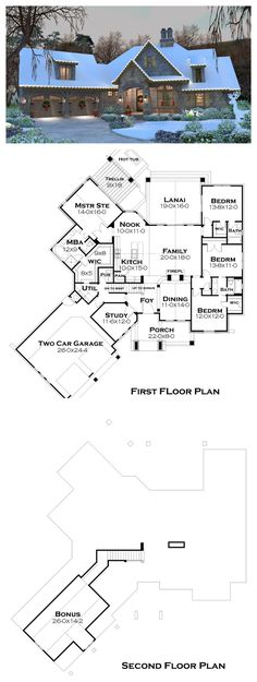 Plan #120-184 | 2482 sq ft | 4 Bedrooms | 3.5 Bathrooms | 1 Floor + bonus room | 2 Garage