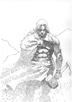 Thor by Esad Ribic at Lucic Milazzo's Ribic Esad Comic Art Gallery Room - Top 99 Pencil Drawings Comic Book Artists, Comic Artist, Comic Books Art, Thor, Vikings, Character Art, Character Design, Comic Tutorial, Asgard