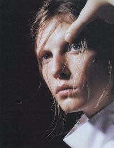 angela lindvall photographed by david sims for jil sander campaign, spring 1998.