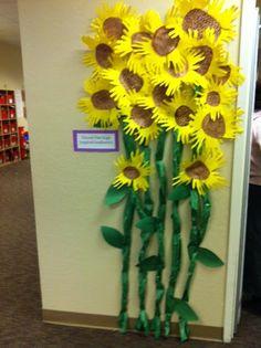 van gogh sunflowers hand print petals