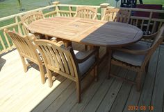 My new teak table set from the Great outdoors