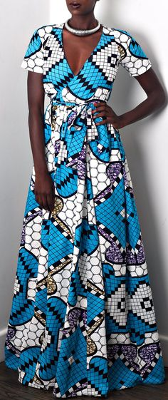 V-neckline wrap dress. Raglan Short or Long Sleeve. Sash wrap tie. Maxi length skirt w/ pockets. NEW The Diane Maxi Dress. Ankara | Dutch wax | Kente | Kitenge | Dashiki | African print bomber jacket | African fashion | Ankara bomber jacket | African prints | Nigerian style | Ghanaian fashion | Senegal fashion | Kenya fashion | Nigerian fashion | Ankara crop top (affiliate)