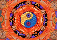 """""""Sacral Chakra"""" by IfyRefini 2011. Authentically hand designed using art markers and paint pens. For sale at AUD$500 as A1 Limited Edition of 11 signed and numbered giclee prints."""