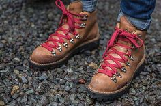 MOUNTAIN LIGHT CASCADE HIKING BOOTS | BY DANNER --> Mountain Light Cascade Hiking Boots made by Danner are a water-proof, leather piece that offers great durability and stability on bumpy terrains.  #hiking   #boots   #outdoors   #style