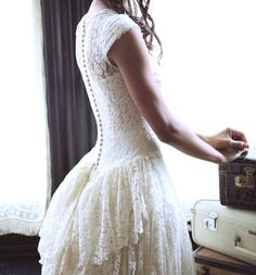 1940's wedding dress? Not so much a fan of old vintage dresses, but this one is kinda cool