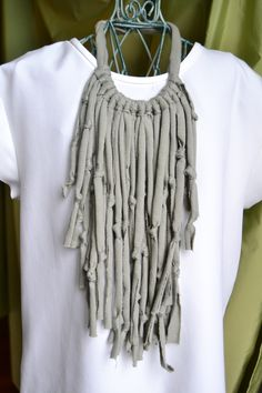 handmade necklaces (sage green jersey)