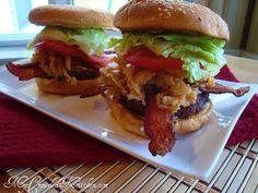 Burger Idea: Bacon Blue | My Crowded Kitchen
