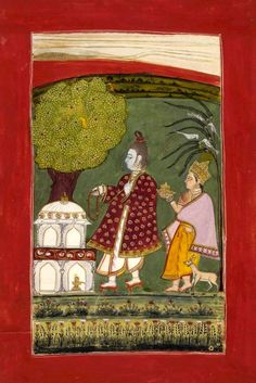 Bhairavi.   An illustration from a dispersed Ragamala series. Rajasthan School. Date 1772. [British Museum]