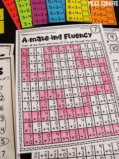 These math fact fluency activities would be great for small group rotations or early finishers. It would be great repeated practice to help build the students fact fluency. It could also be modified for difficulty. Maths Guidés, Math Classroom, Teaching Math, Kindergarten Math, Fluency Activities, Math Fact Fluency, Math Intervention, Second Grade Math, Grade 2
