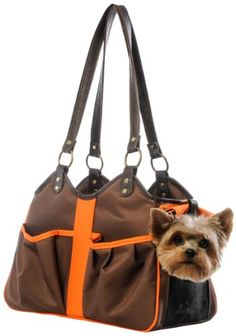 Petote Metro 2 Pet Carrier Bag Petite BrownOrange -- Find out more about the great product at the image link.