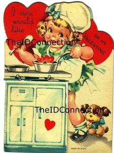 Vintage Valentine Digital Download Baker by TheIDconnection, $15.00