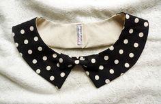 Coco collar - coco chanel style - big polka dots with bowtie. $25.00, via Etsy.