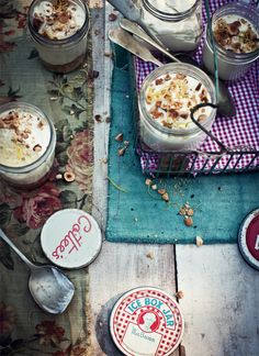 ... lemon, lime and ginger mousse with hazelnut crunch ...