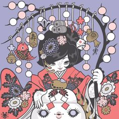 Junko Mizuno 水野純子 is a Japanese manga illustrator, whose unique dark kawaii style has allowed her to branch out to gallery exhibits, toy & apparel designer. Japanese New Year, Japanese Art, Alex Pardee, Crazy Women, Thing 1, Pop Culture Art, Pastel Goth, Dark Art, Cute Art