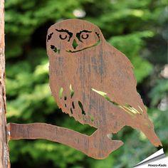 Metalen vogel - Steenuil (Cor-Ten staal)